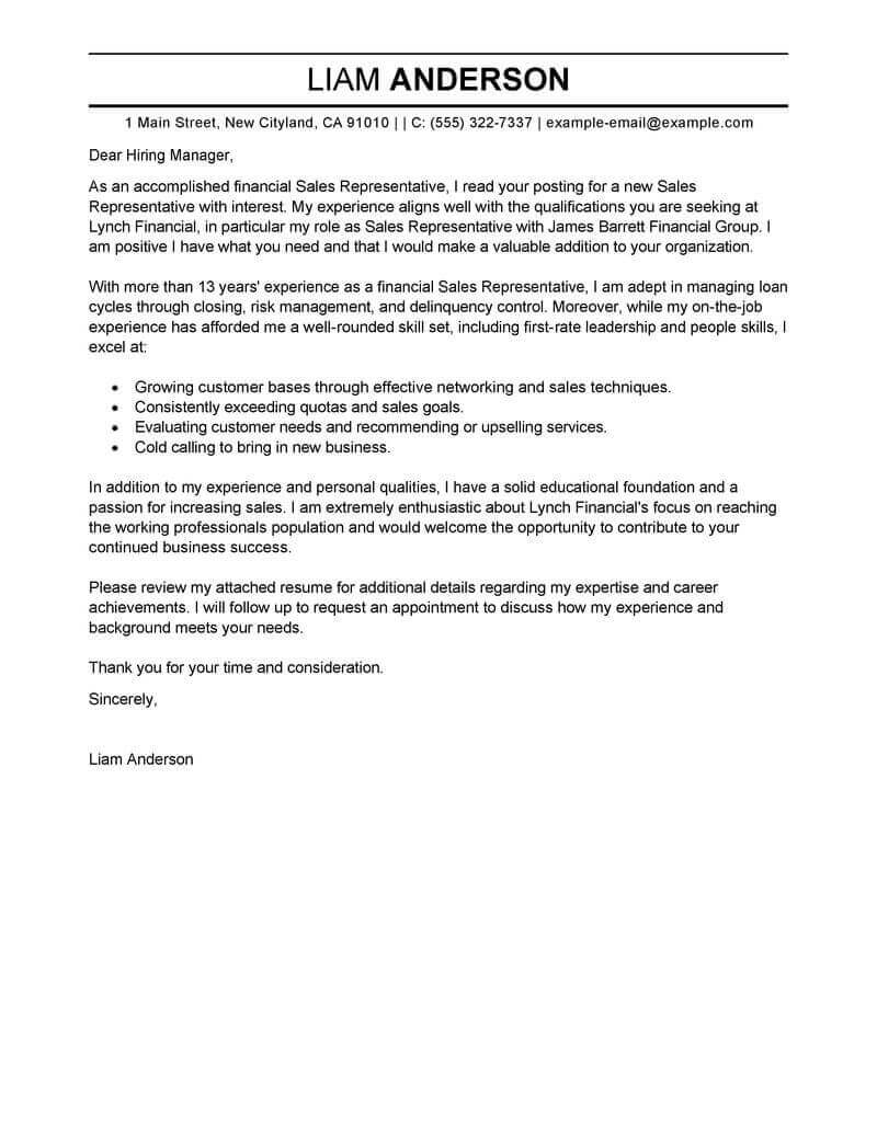 Resume Cover Letter Example #3