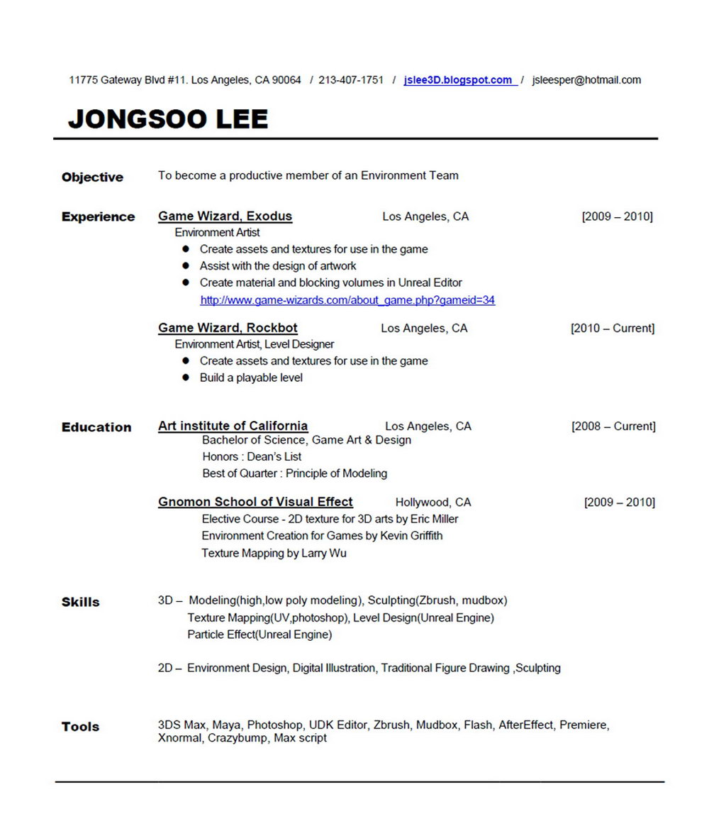 Functional Resume Template Word