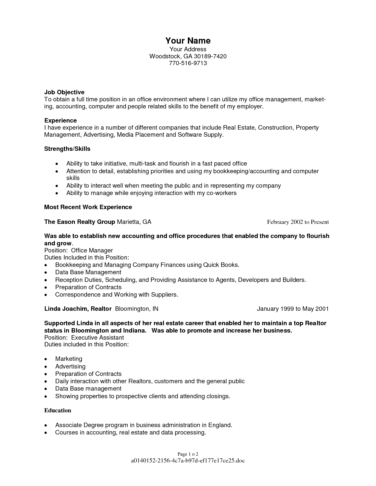 Full Time Real Estate Agent Resume Sample With Objective And Experiences 8