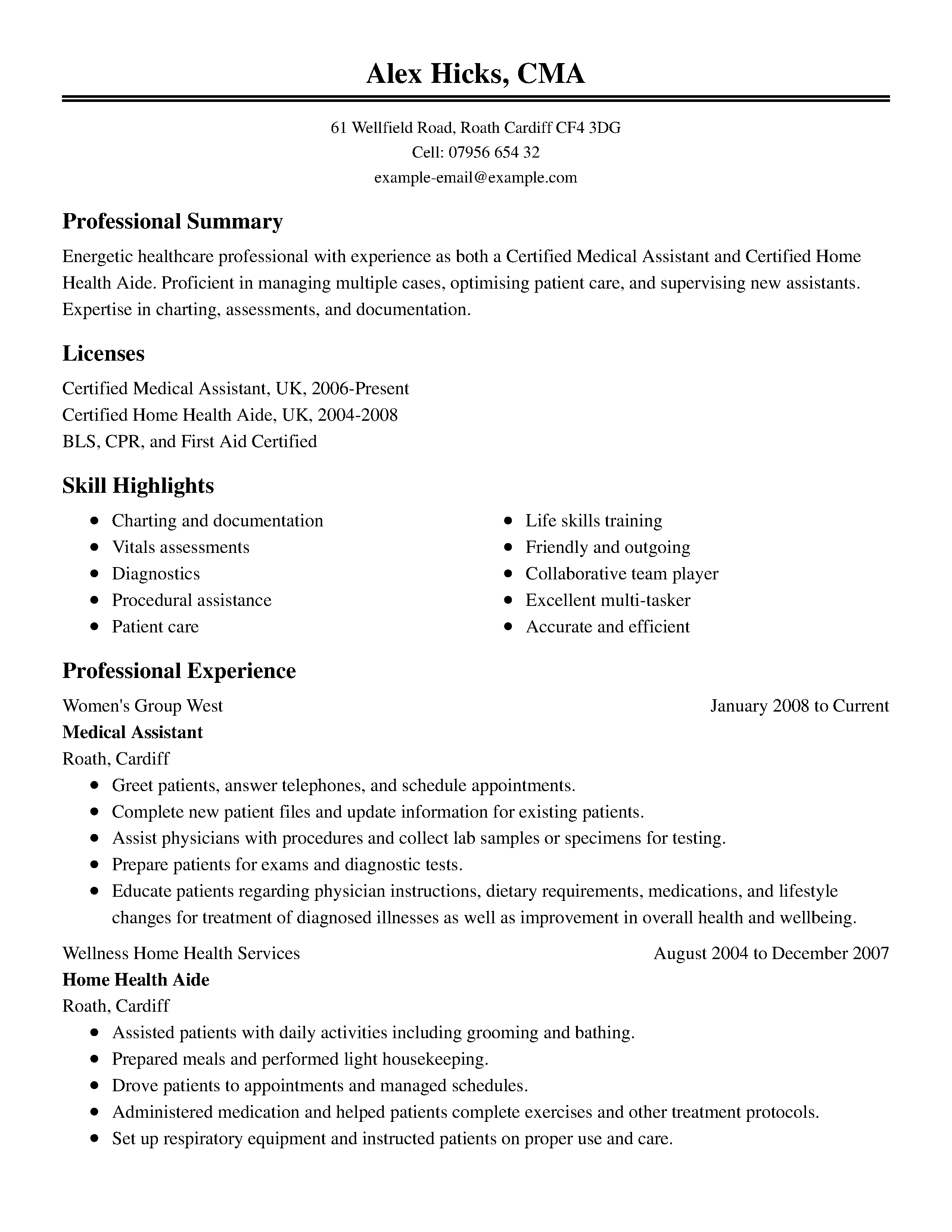 Resume Templates For Word #3