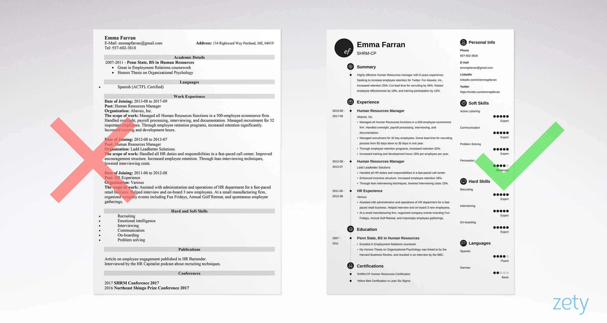 infographic resume templates 18 8 - Infographic Resume Template
