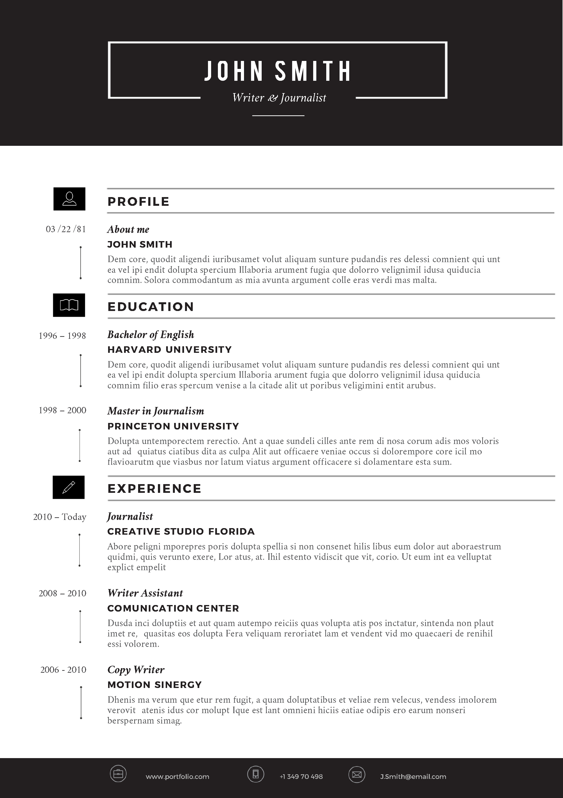 Resume Templates For Word #4