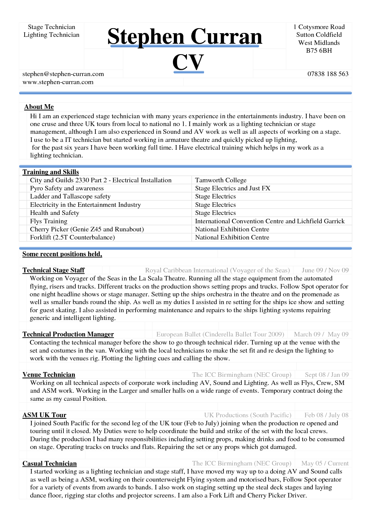 Professional Resume Word Template Free Download 4