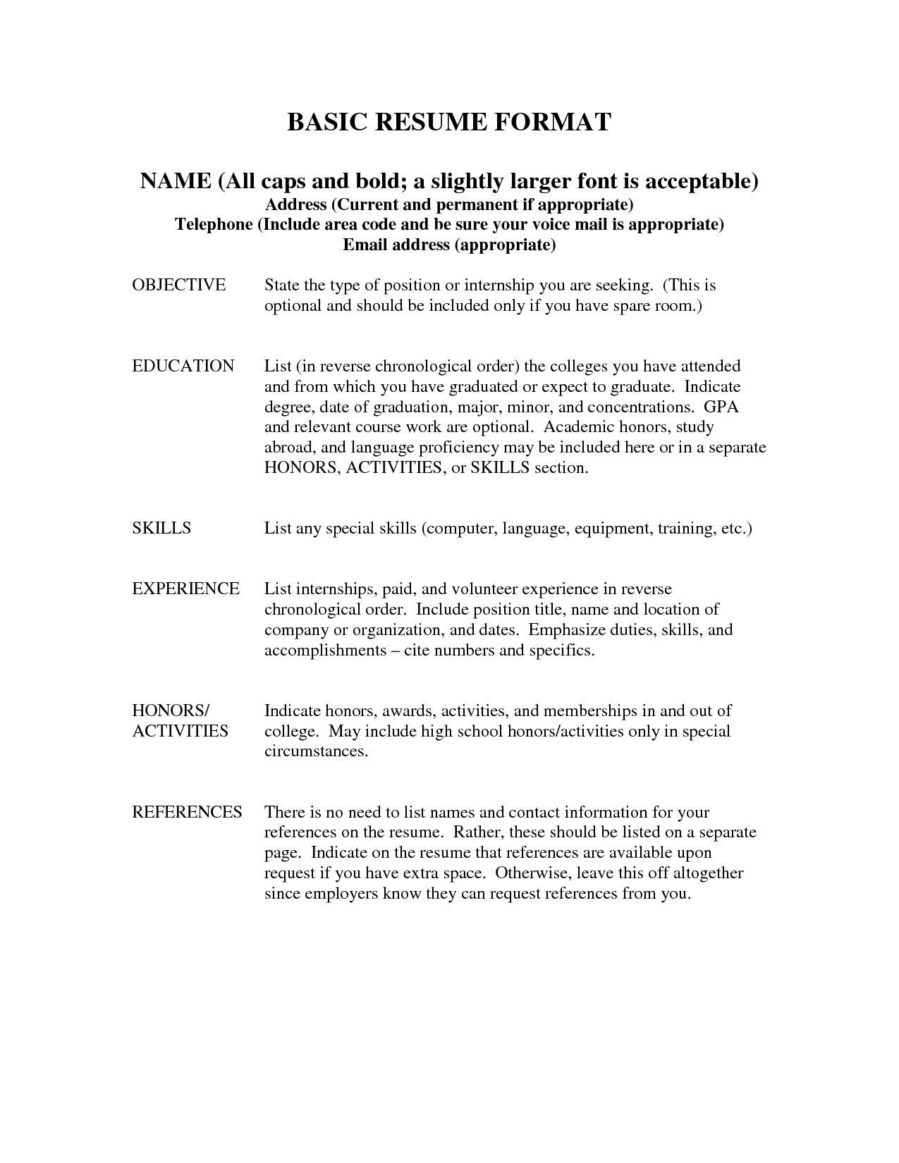 Format For References On Resume