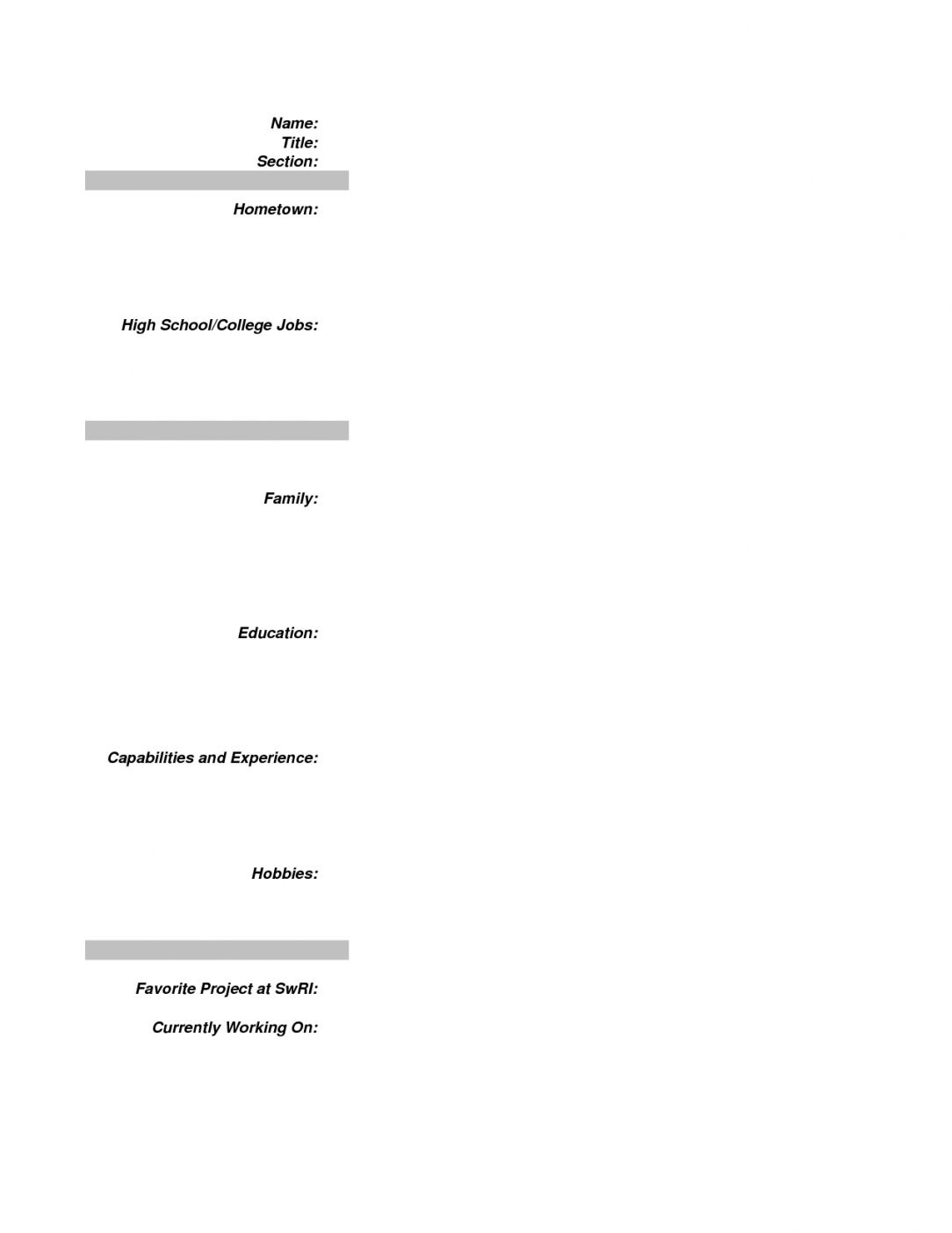 Resumes First Job No Experience Resume Sample For Work College In Inside Template 8