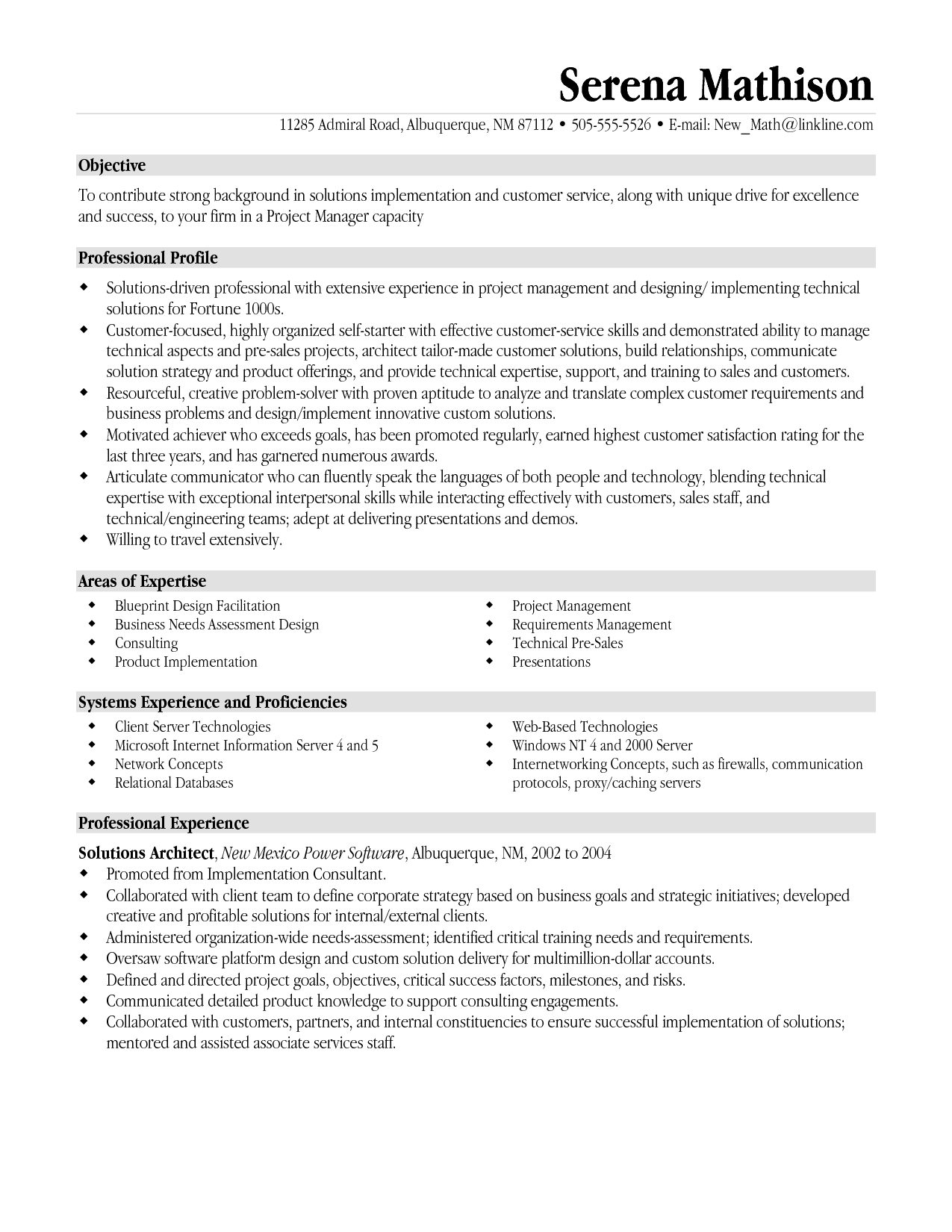 Project Manager Resumes