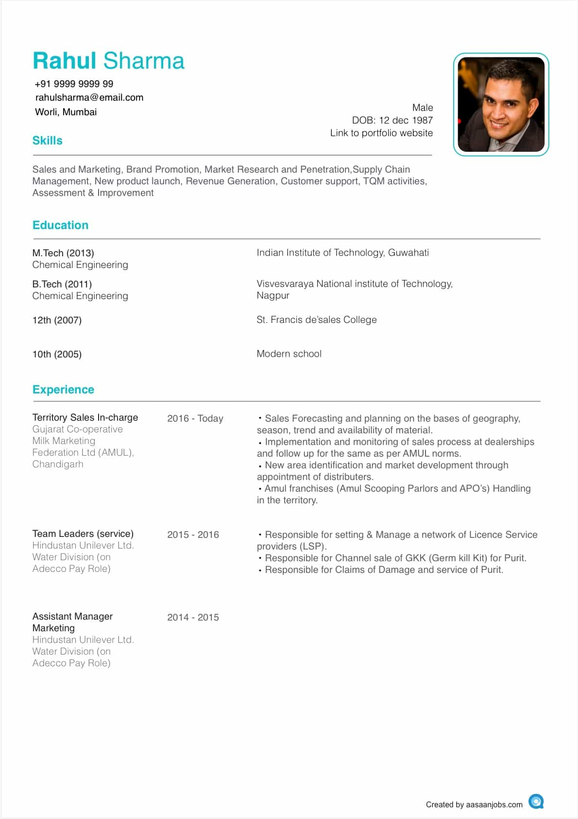 template 5 2714a8a37b 2 8 - Format Of Resume